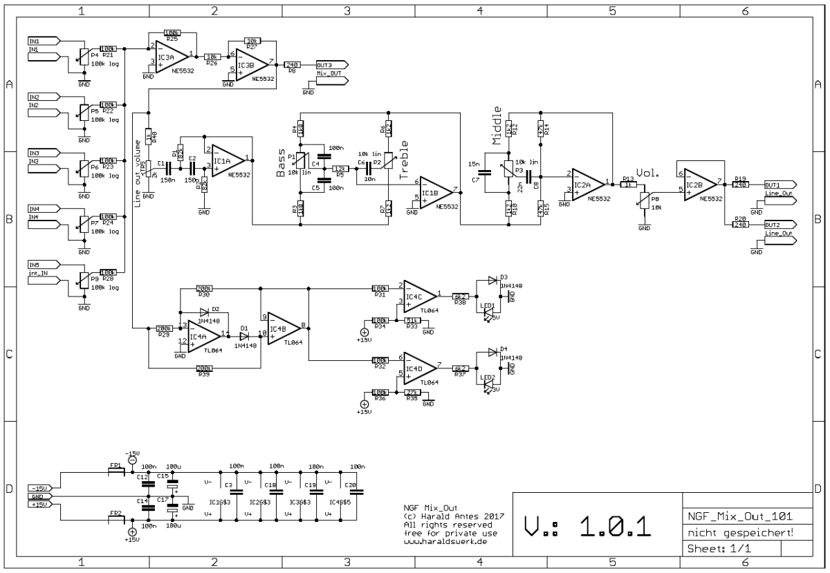 NGF-E Project: Mix Out (COM) schematic