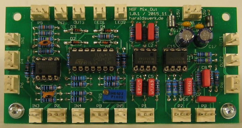 NGF-E Project: Mix Out (COM) stuffed PCB