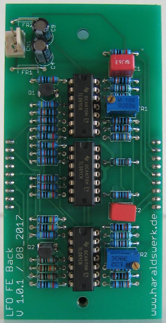 LFO flat Version populated back PCB
