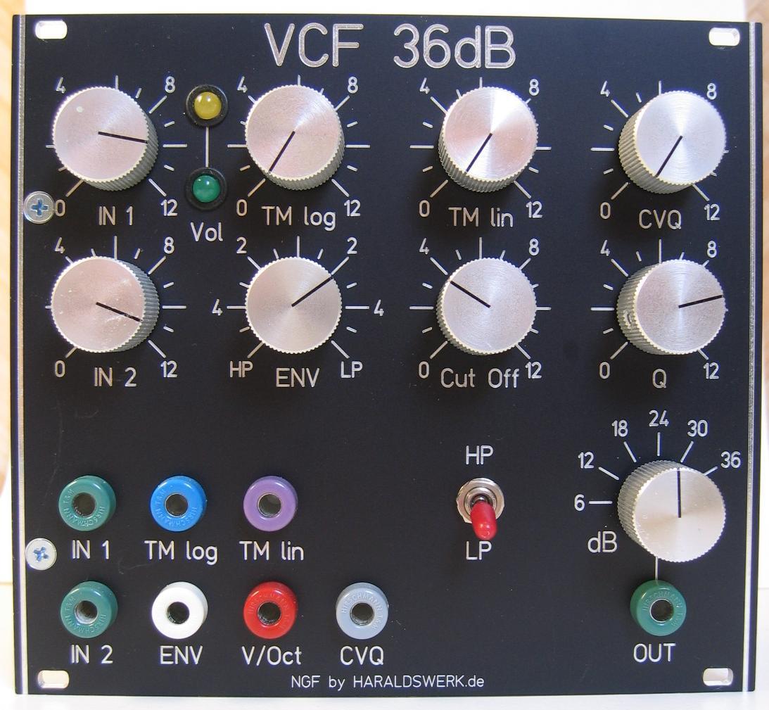 36dB VCF LP/HP module front