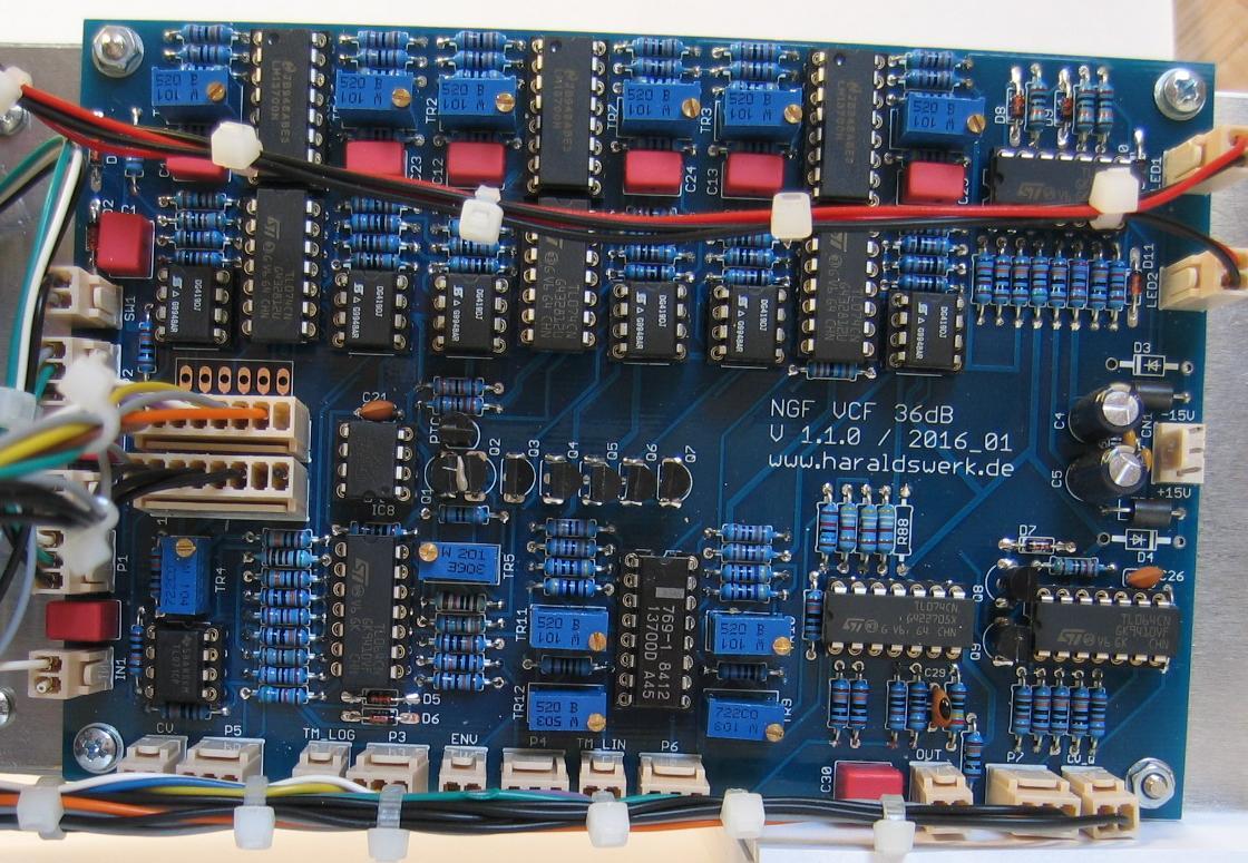 36dB VCF LP/HP populated PCB