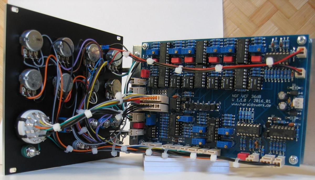36dB VCF LP/HP module back view