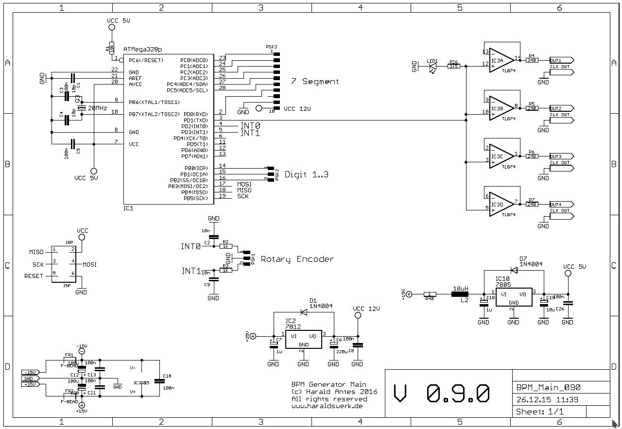 BPM Generator module schematic main