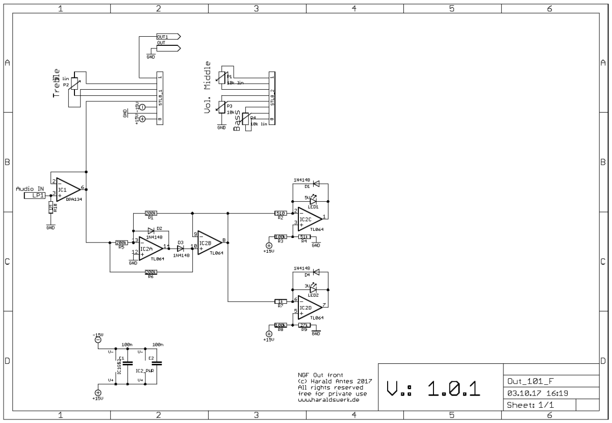 Output Module: Schematic front PCB