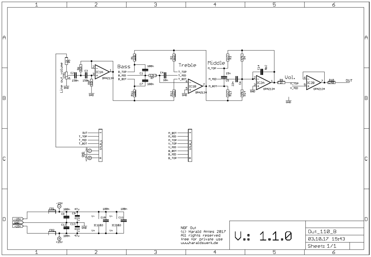 Output Module: Schematic back PCB