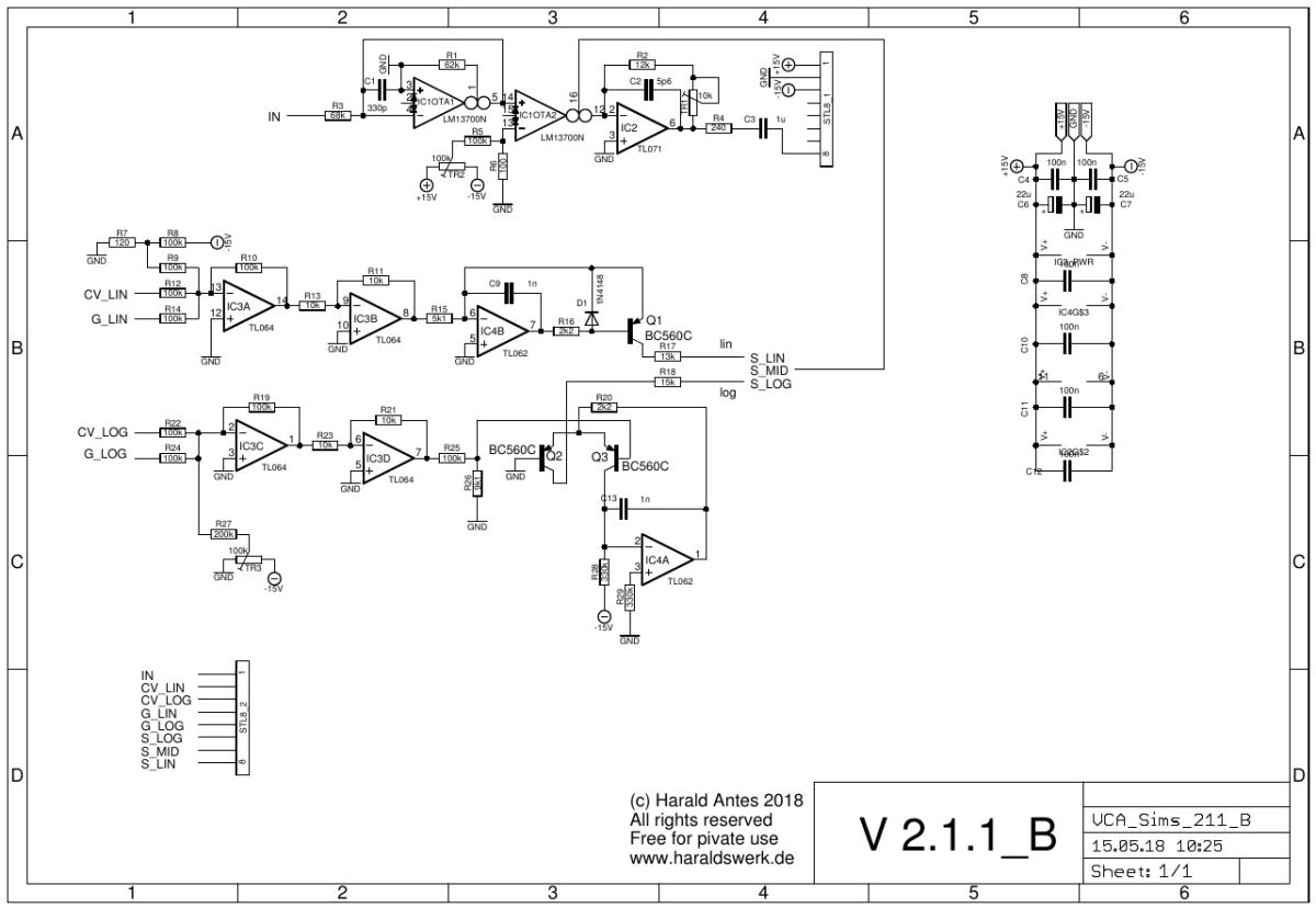 VCA Sims schematic back PCB