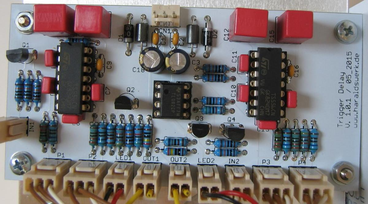 Trigger Delay populated PCB