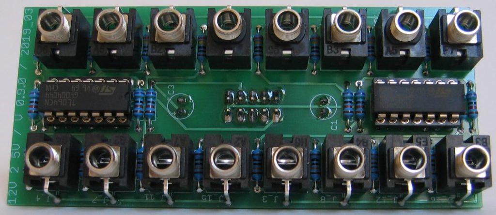 12V 2 5V gate converter populated PCB