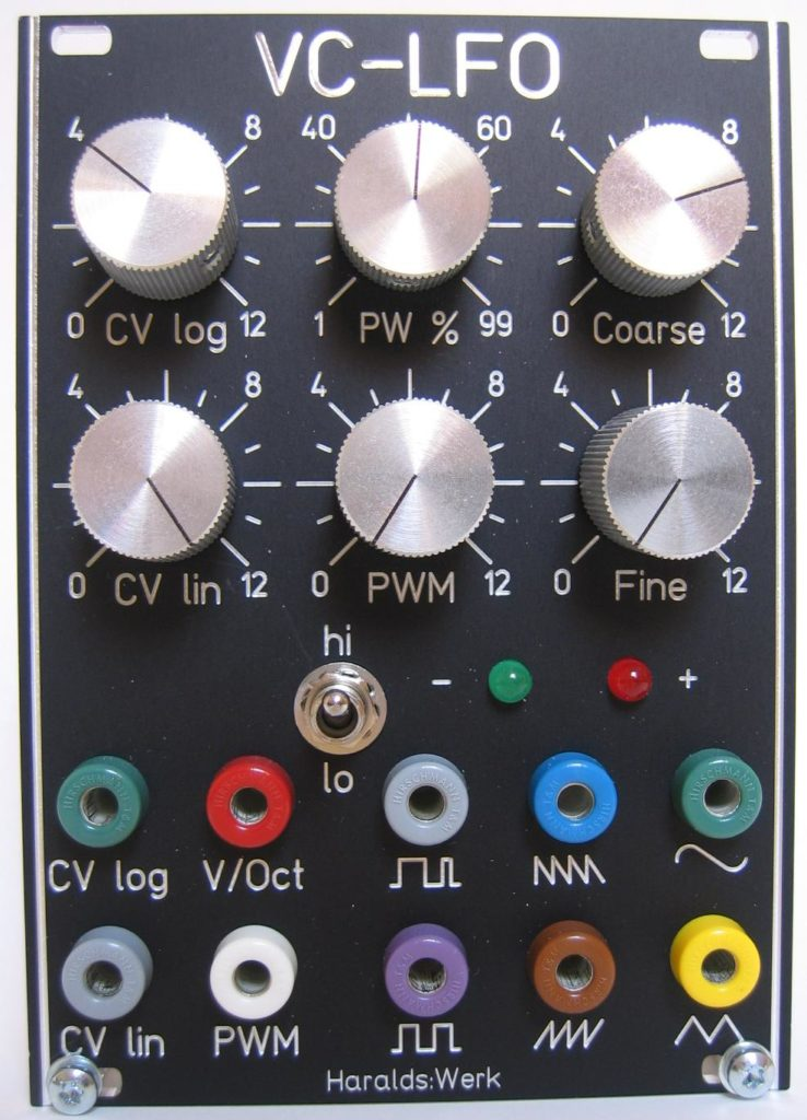 Voltage controlled LFO front view