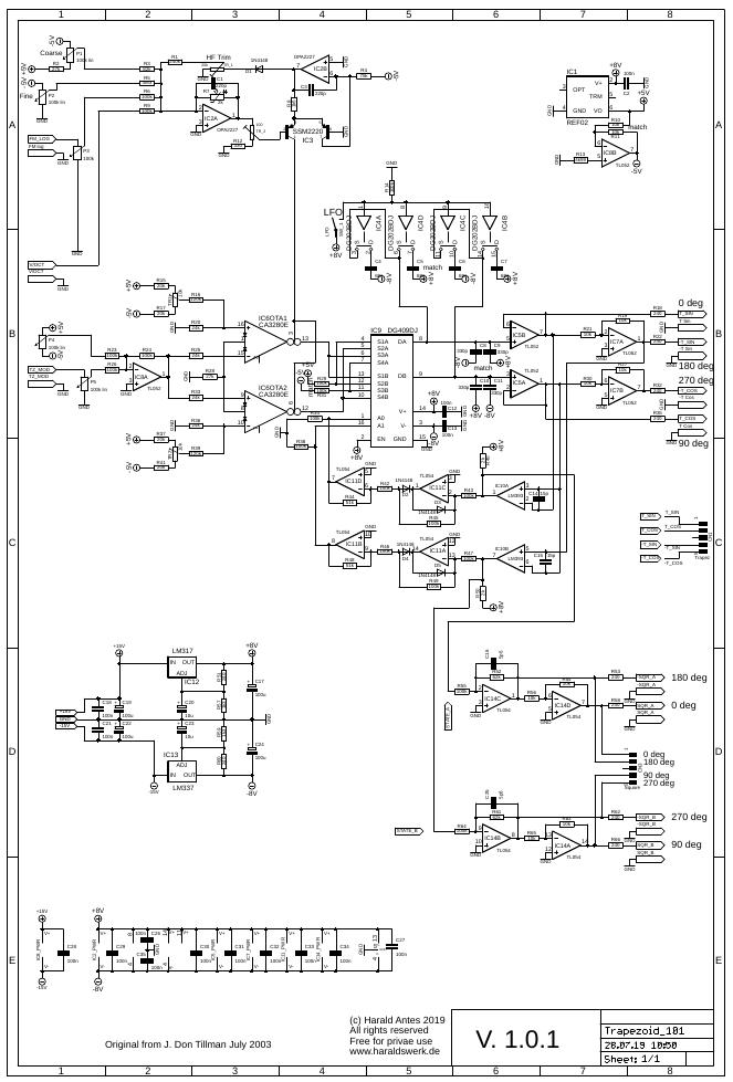 Trapezoid VCO schematic