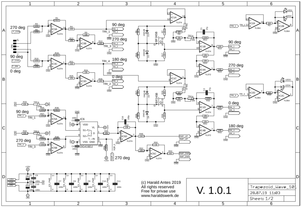 Schematic 01 quad waveshaper for quadrature thru zero VCO