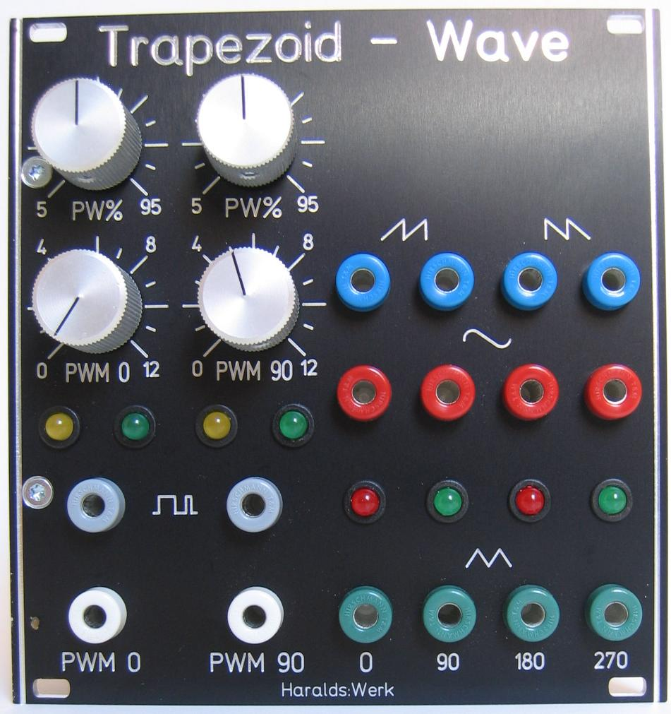 Quad waveshaper for trapezoid quadrature VCO
