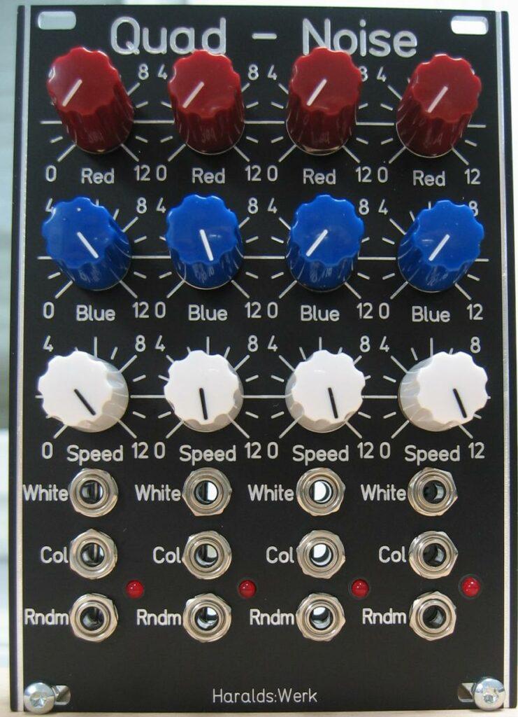Quad white and colored noise source. Quad random voltage source. Schematic control PCB