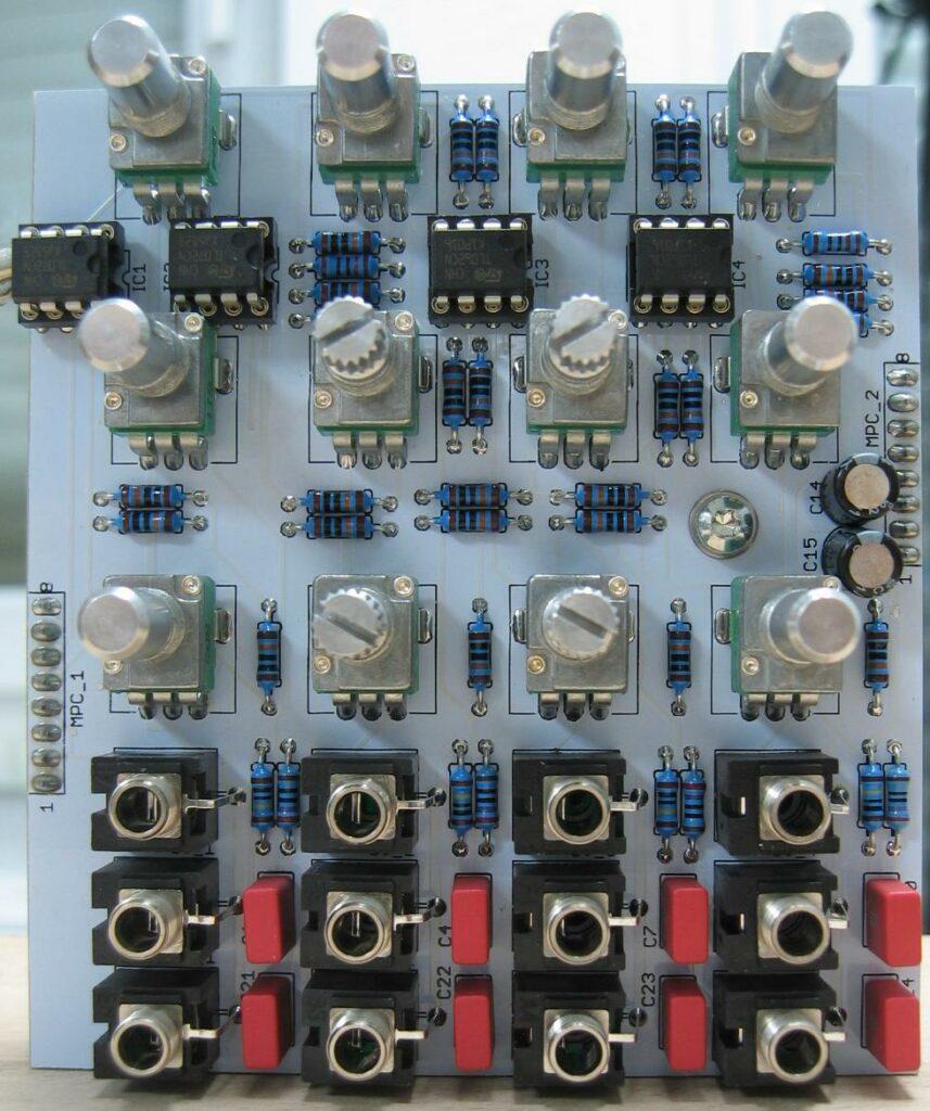 Quad VCA control PCB AC coupled