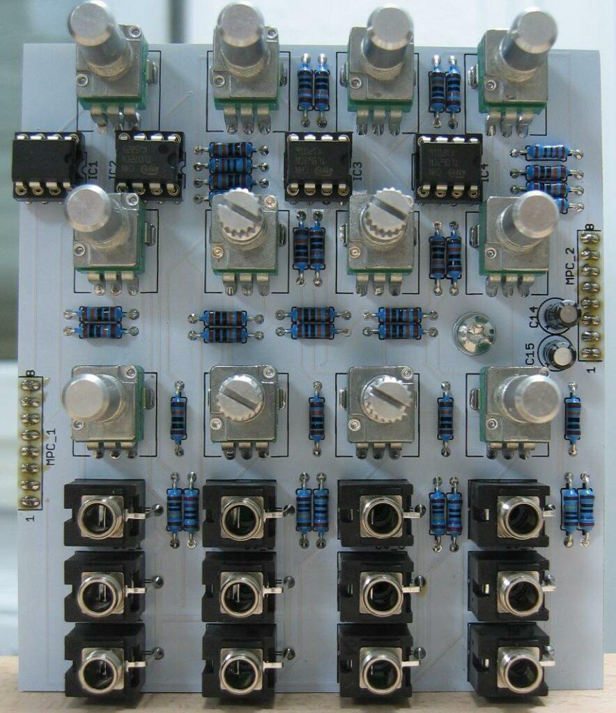 Quad VCA control PCB DC coupled