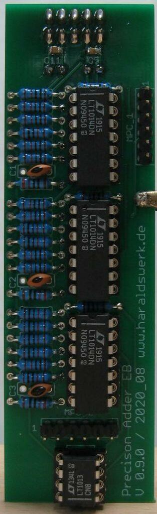 Precision Adder populated PCB
