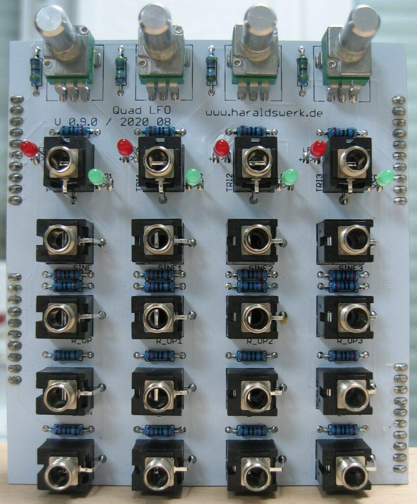 Quad LFO populated control PCB