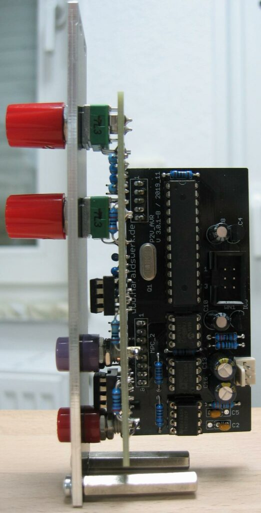 Pitch to Voltage converter: Side view