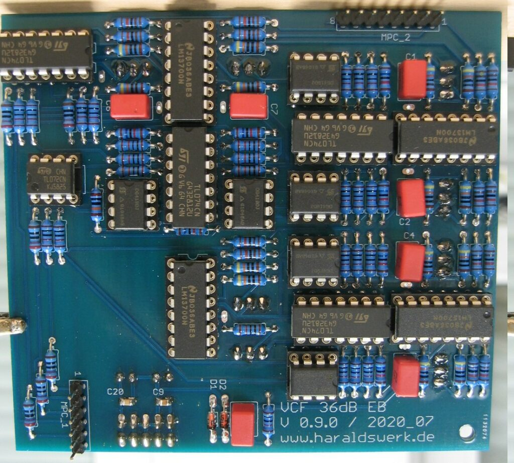 6..36db VCF Highpass/Lowpass: Populated main PCB