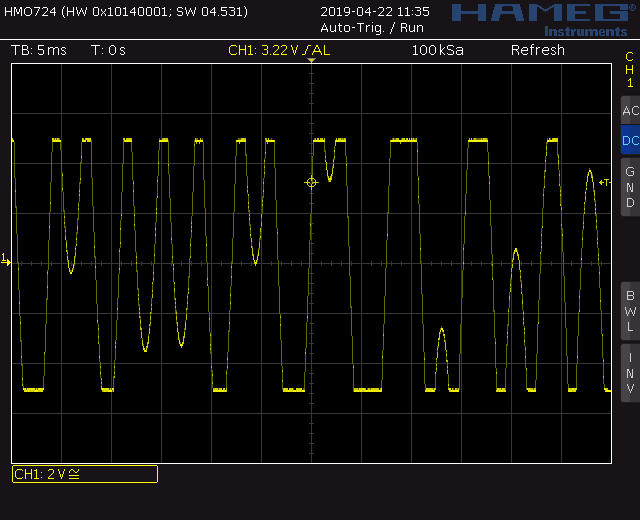 Trapezoid quadrature through zero VCO with waveshapers: Screenshot trapezoid through zero out