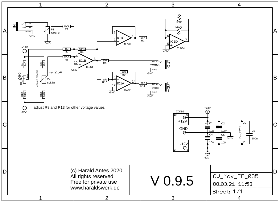 CV Mover: Schematic